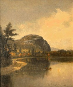 """Cathedral Ledge & Echo Lake"" by Benjamin Champney (1819-1907) (image courtesy of whitemountainart.com)"