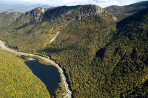 Eagle Cliff and Profile Lake from Cannon Mountain (Greg Keeler Photo)