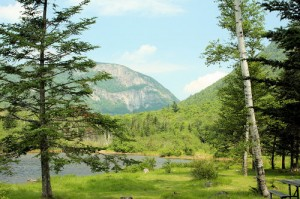 View of Mount Willard from Willey House Historical Site in Crawford Notch