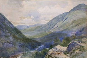 Crawford Notch from Mount Willard by Frederic Marlett Bell-Smith, 1895.  Image courtesy of whitemountainart.com