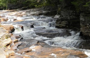Lower Falls on the Ammonoosuc River