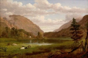Crawford Notch from Saco Lake by Russell Smith 1867